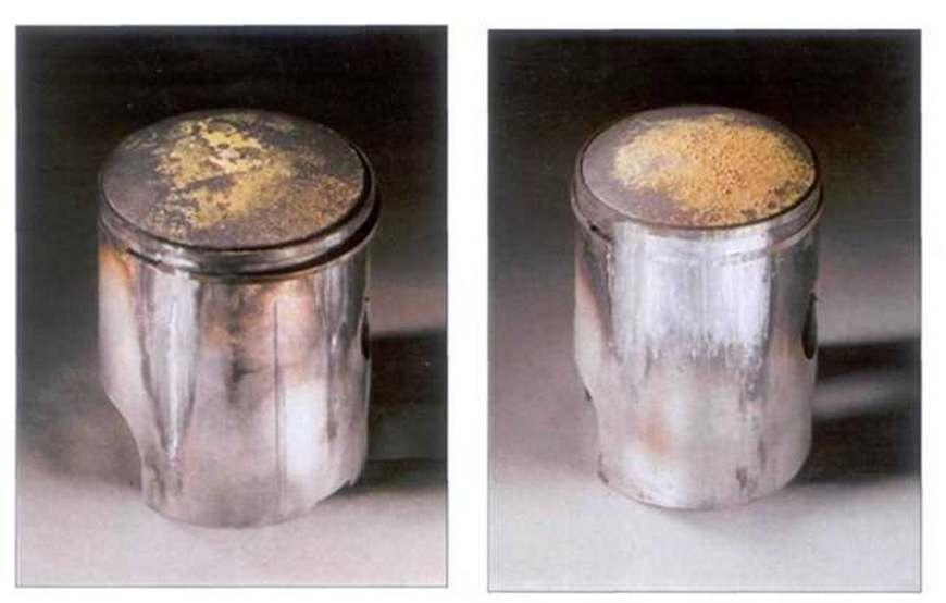 поврежденный поршень бензопилы